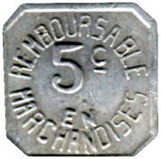 5 Centimes - Henric Lou Biarnes - Pau [64] – reverse