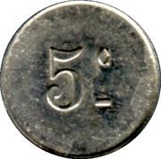 5 Centimes Approvisionnements Généraux, Michau -  Pussay [91] – reverse
