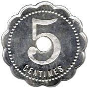 5 Centimes - Chocolat Meunier - Noisiel [77] – reverse
