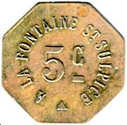 5 Centimes - A la Fontaine Saint-Sulpice - Paris [75] – obverse