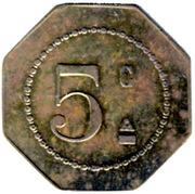 5 Centimes - A la Fontaine Saint-Sulpice - Paris [75] – reverse