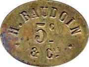 5 Centimes - H. baudouin et Compagnie – obverse