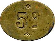 5 Centimes - H. baudouin et Compagnie – reverse