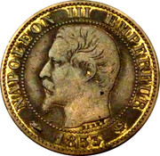 Napoléon III Chambre de commerce Lille – obverse