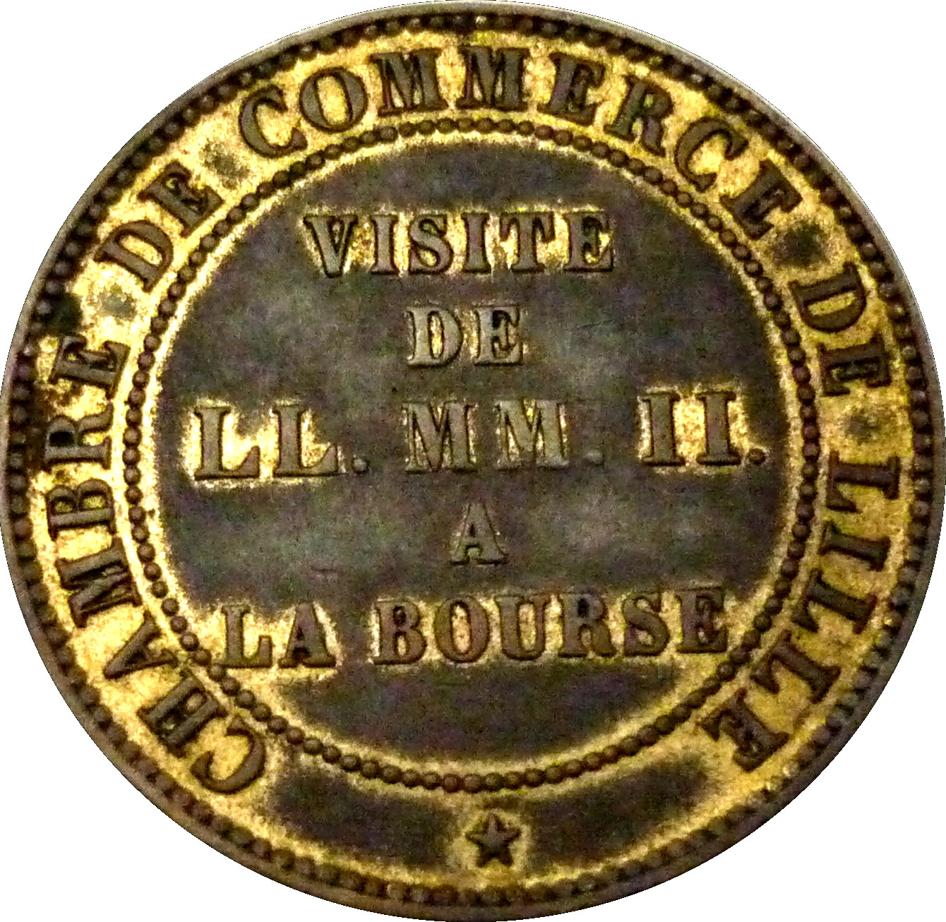 Napol on iii chambre de commerce lille tokens numista for Chambre de commerce