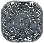 5 Centimes - Etablissements Ossart - Montpellier [34] – obverse