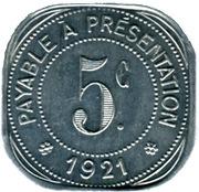 5 Centimes - Etablissements Ossart - Montpellier [34] – reverse
