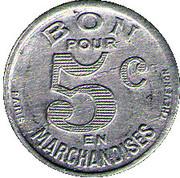 5 Centimes - Quincaillerie Nebout Freres Castillon – obverse