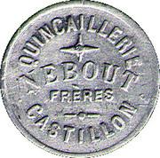 5 Centimes - Quincaillerie Nebout Freres Castillon – reverse