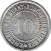 10 Centimes - Quincaillerie Cavallier - Feuquiéres [80] – reverse