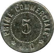 5 Centimes - Maison J. Duval - Le Blanc [36] – reverse
