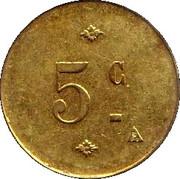 5 Centimes - N.D DU VOEU CHERBOURG 50 – reverse