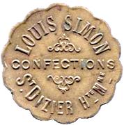 5 Centimes - Louis Simon - Confections - Saint Dizier [52] – obverse