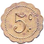 5 Centimes - Louis Simon - Confections - Saint Dizier [52] – reverse