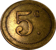 5 Centimes (5 c) – obverse