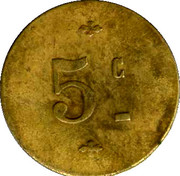 5 Centimes (5 c) – reverse