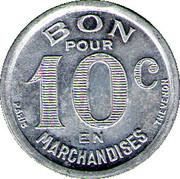 10 Centimes Quincaillerie Nebout Freres Castillon – reverse