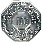 10 Centimes - Etablissements Ossart - Montpellier [34] – obverse