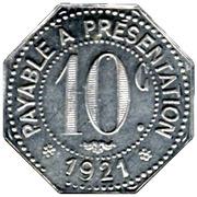10 Centimes - Etablissements Ossart - Montpellier [34] – reverse