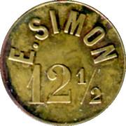 12½ Centimes Halte du Barrage E. Simon -  St Etienne [42] – reverse