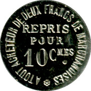10 Centimes - Au Gagne Petit - Laval [53] – obverse