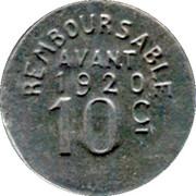 10 Centimes - HENRIC LOU BIARNES - Pau [64] – reverse