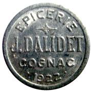 5 Centimes - Epicerie J.Dalidet - Cognac [16] – obverse