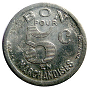 5 Centimes - Epicerie J.Dalidet - Cognac [16] – reverse