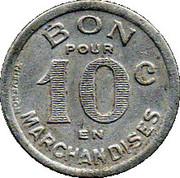 10 Centimes Jarnac 16 – reverse