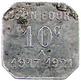 10 Centimes - monnaies de necessite – obverse