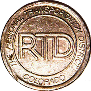 1 Fare - The Regional Transit District (Denver, CO) – obverse
