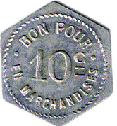 10 Centimes - Quincaillerie Anterrieu - Mazamet  Tarn (81) – reverse