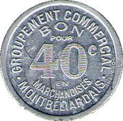 40 Centimes - Groupement Commercial Montbeliardais – reverse