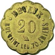 20 Centimes DEVAUX (Amiens) – obverse