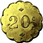 20 CENTIMES DEVAUX RUE St LEU 70 AMIENS – reverse
