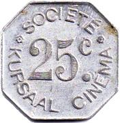 25 Centimes Cinéma Kursaal (30) – reverse