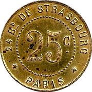 25 Centimes - Bijou Concert - Paris [75] – reverse