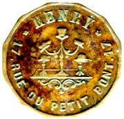 15 Centimes - Henry Chapelier - Paris [75] – obverse