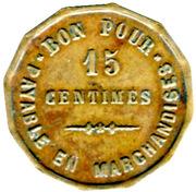 15 Centimes - Henry Chapelier - Paris [75] – reverse