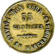35 Centimes - Henry Chapelier - Paris [75] – reverse
