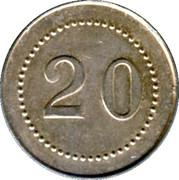 20 Centimes H. Pussey - Paris [75] – reverse