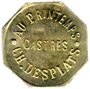 25 Centimes Au Printemps - Ch.Desplats -Castres [81] – obverse