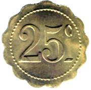 25 Centimes -  Ligue - Saint-Nazaire [44] – reverse