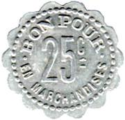 25 Centimes - Boucherie Moderne J.B.Elissat (Saint-Jean-de-Luz [64]) – reverse