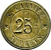 25(50) Centimes - C. Garnier Apprets - Lyon [69] – reverse
