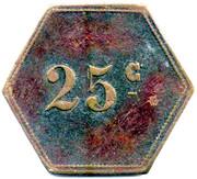 25 Centimes - Magasin - Carnoulès [30] – reverse