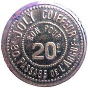 20 Centimes - Joly Coiffeur  - Lyon (69) – reverse