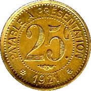 25 Centimes- Etablissements Ossart - Montpellier [34] – reverse