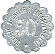 50 Centimes (Sports Incentive Company; Paris) – reverse