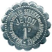 1 Franc Société Sportive d'Encouragement - Paris [75] – obverse